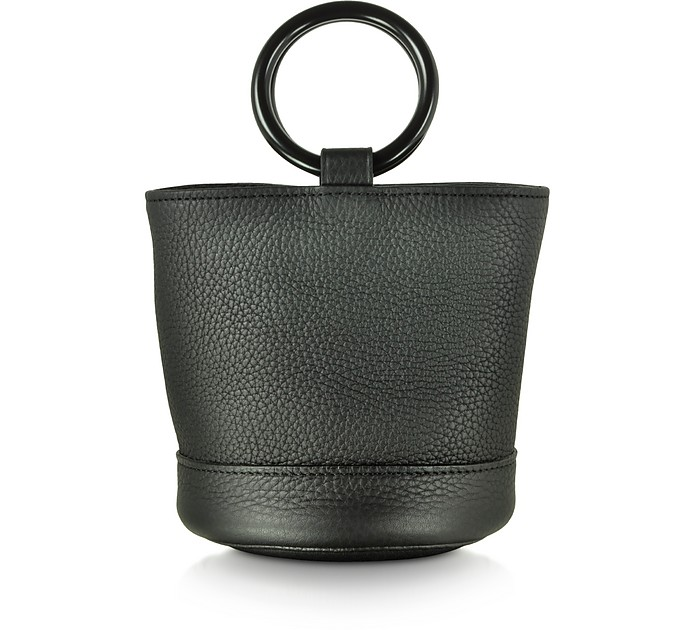 Black Leather 15 cm Bonsai Bag - Simon Miller / サイモンミラー