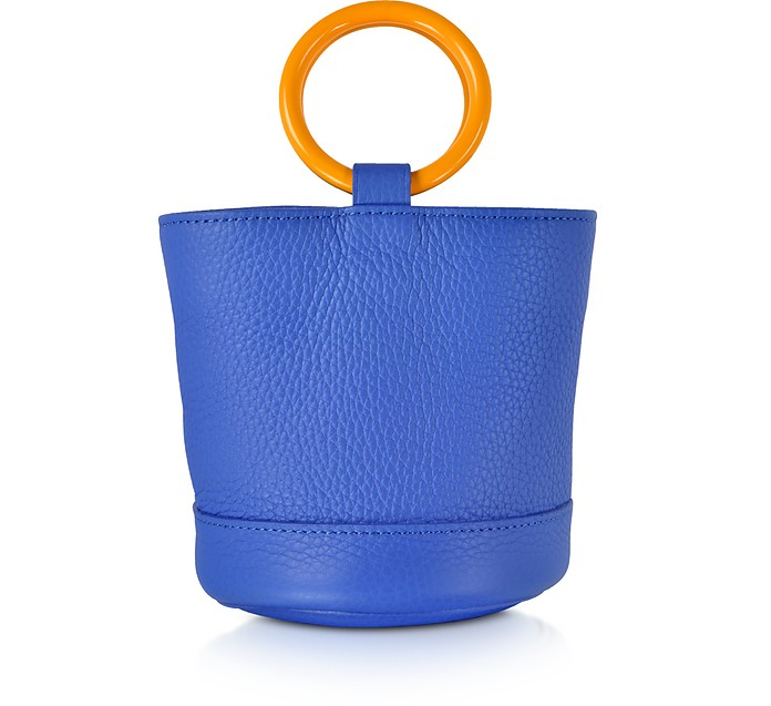 Electric Blue Leather 15 cm Bonsai Bag - Simon Miller