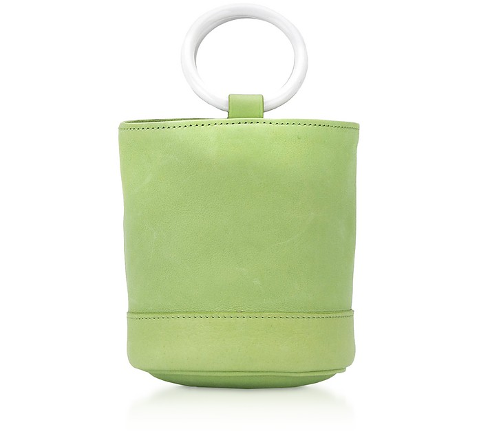 Lime Leather 15 cm Bonsai Bag - Simon Miller