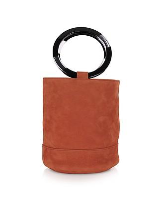 8ed35b7257 S804 Rust Nubuck Bonsai 20 cm Bag - Simon Miller