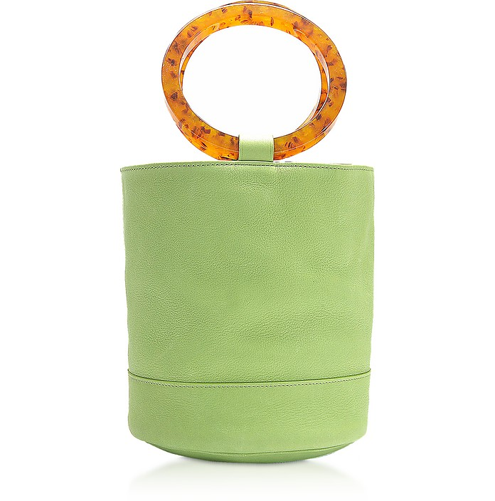S804草绿色小号水桶包 - Simon Miller