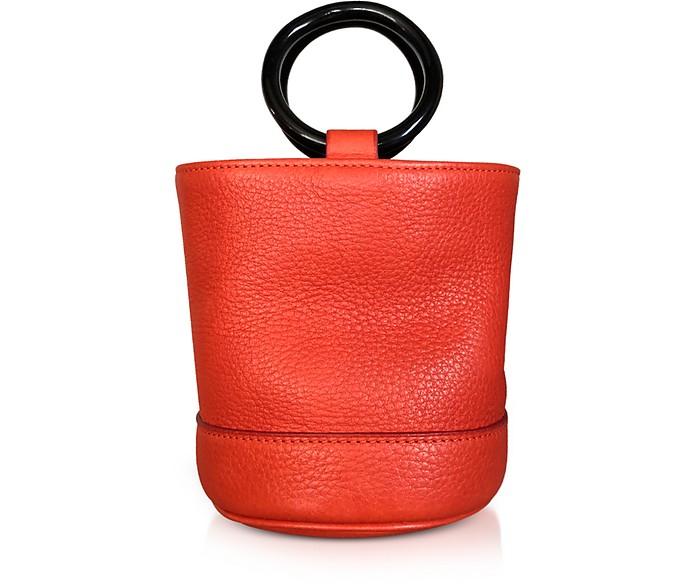 S801S Red Leather Bonsai 15 cm Bag - Simon Miller