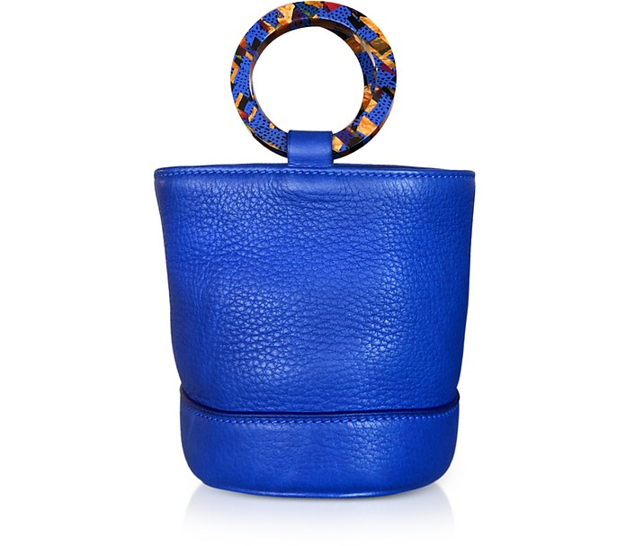 Cobalt Blue Leather Bonsai 15cm Bag - Simon Miller
