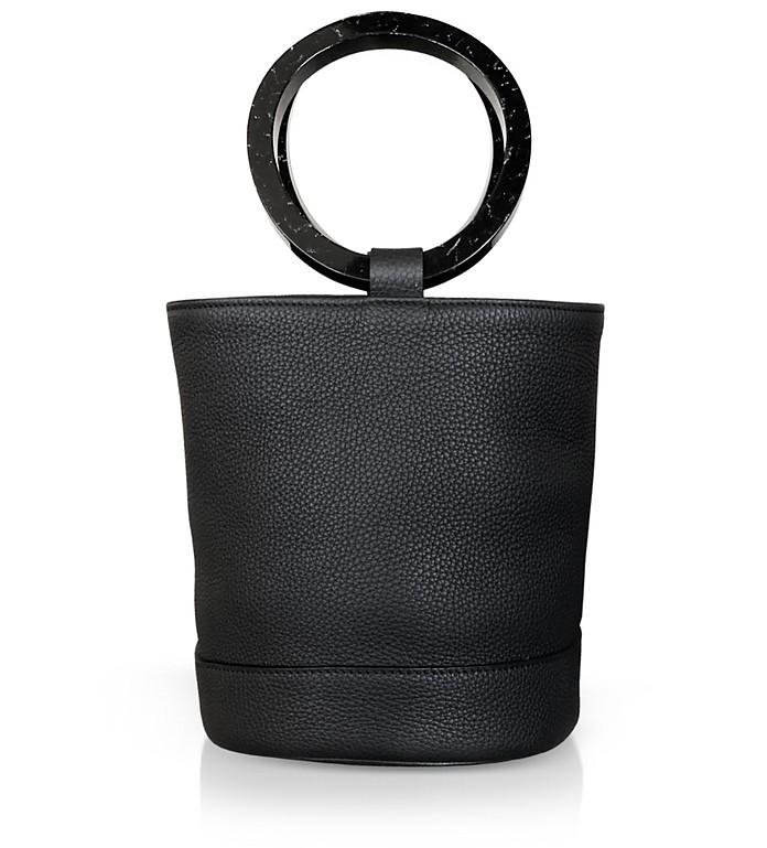 Black Leather Bonsai 20cm Bag - Simon Miller