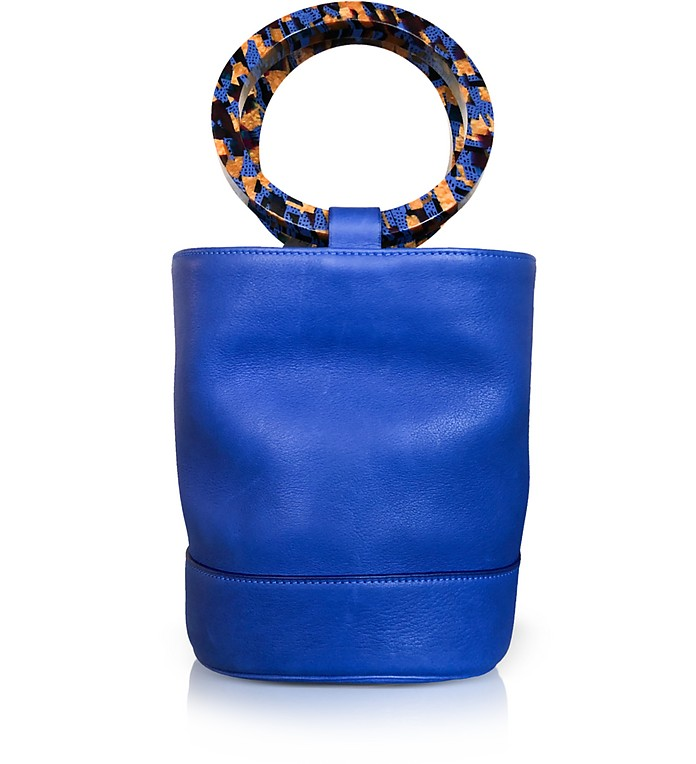 Cobalt Blue Leather Bonsai 20cm Bag - Simon Miller