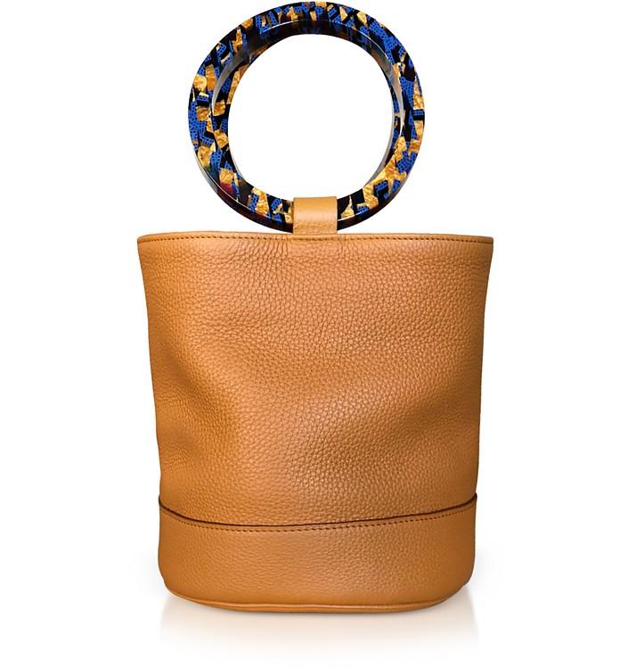 S804 Tan Leather Bonsai 20 cm Bag - Simon Miller