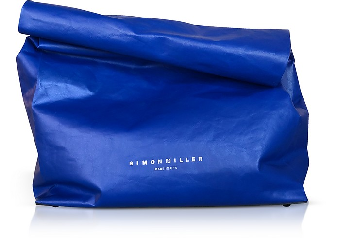S810 XL Cobalt Leather 30 cm Lunchbag - Simon Miller