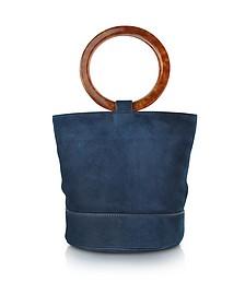 S804 Smoke Blue Nubuck Bonsai Bag - Simon Miller