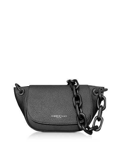 Grained Leather Bend Bag - Simon Miller