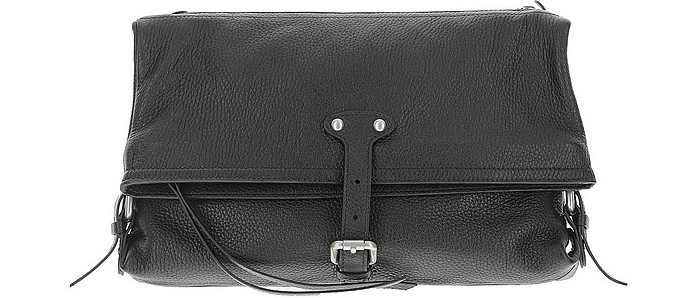 Black Leather Small NDN Shoulder Bag - Maison Margiela
