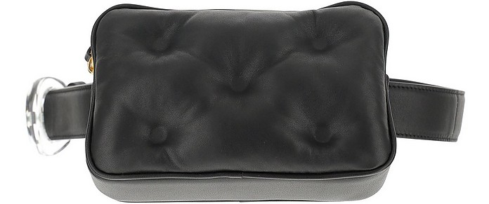 Black Quilted Eco-Leather Belt Bag - Maison Margiela