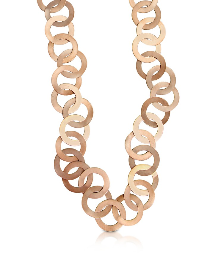 Med - Rose Gold Chain Necklace - Mita Marina Milano 米达· 玛丽娜· 米兰
