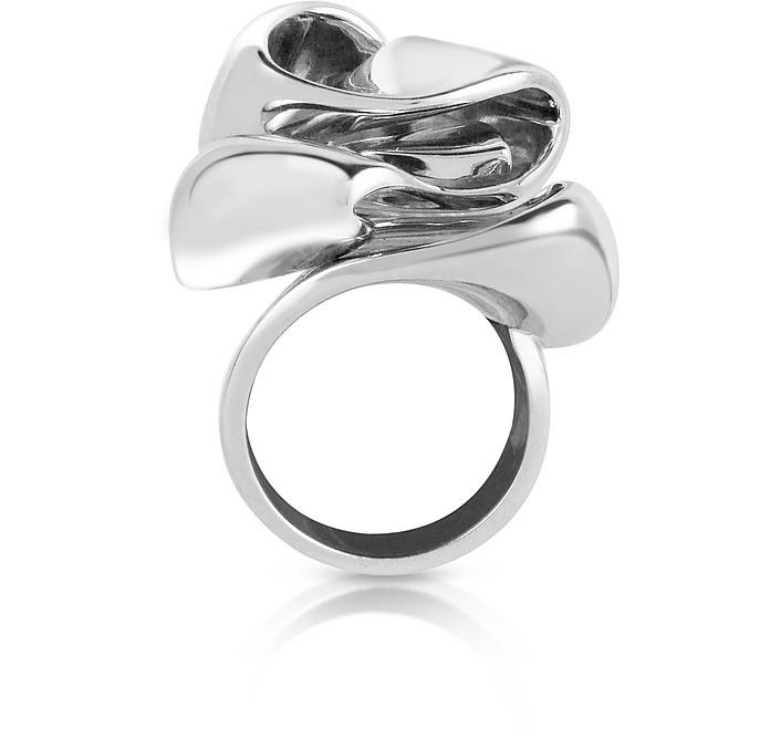 Sterling Silver Flower Ring - Mita Marina Milano