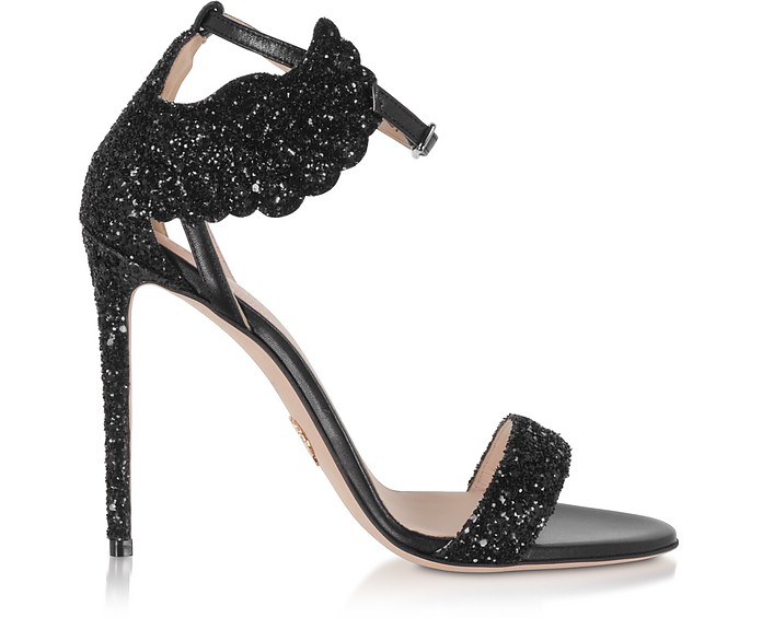 Black Malikah High Heel Sandals - Oscar Tiye