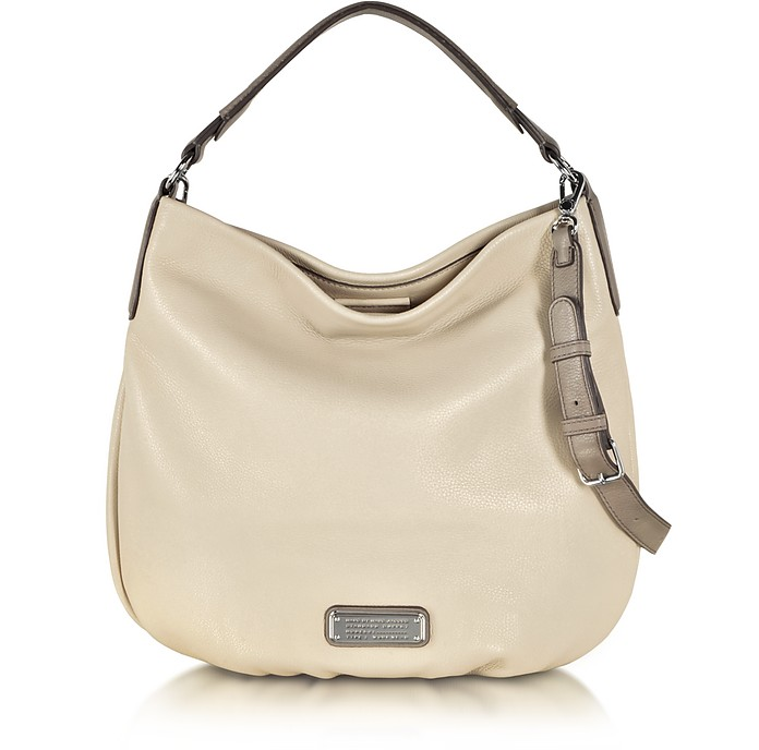 New Q Hillier Sand Leather Hobo - Marc by Marc Jacobs