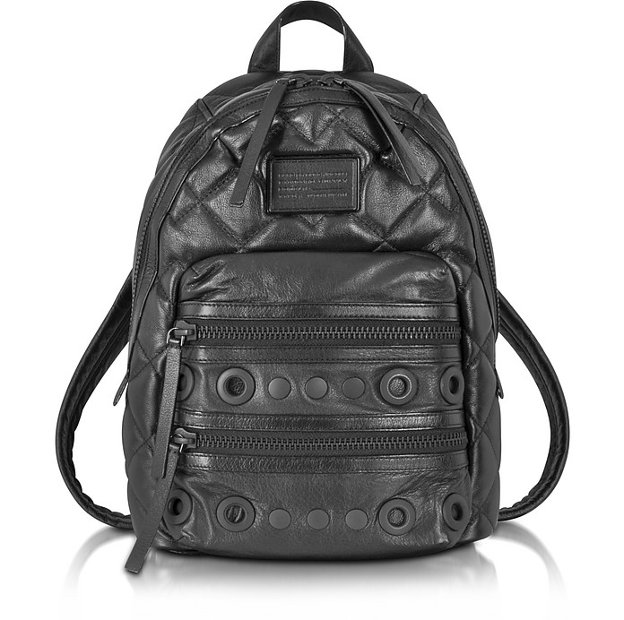 Domo Biker Leather Backpack With Grommets - Marc by Marc Jacobs