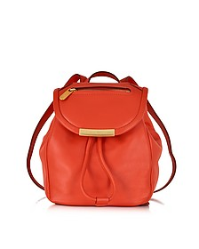 Bright Tangelo Luna Mini Leather Backpack