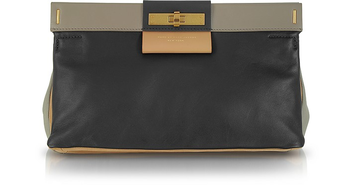 East End Colorblocked Lady Rei Leather Clutch - Marc by Marc Jacobs