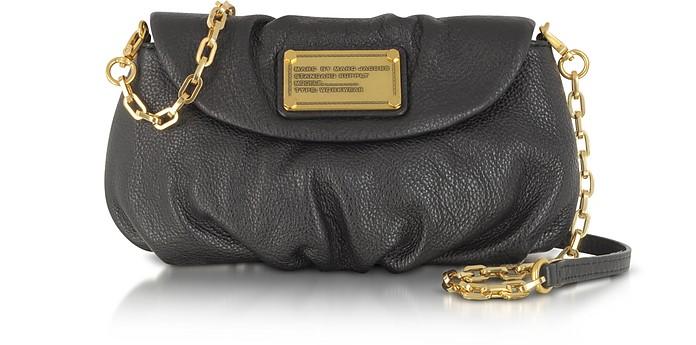 Classic Q Karlie Black Leather Shoulder Bag