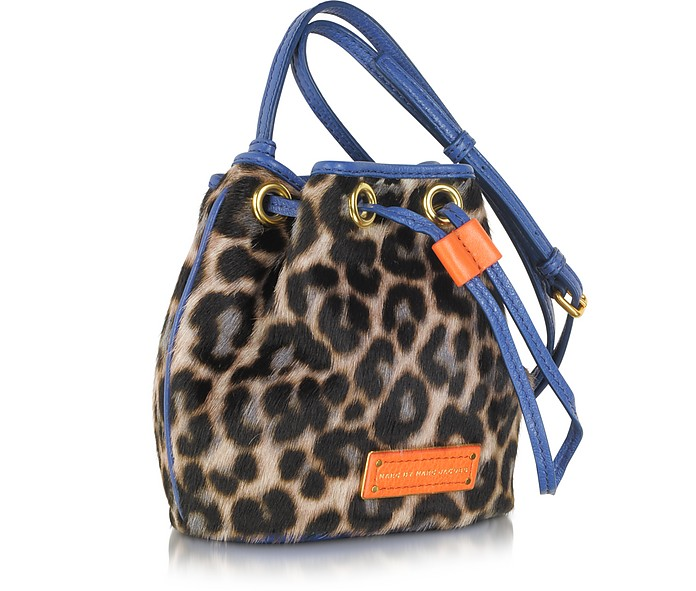 dc2a6a4ae074 Too Hot To Handle Mini Drawstring Leopard Print Calfhair Shoulder Bag - Marc  by Marc Jacobs.  345.00 Actual transaction amount