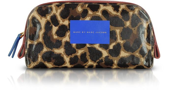 Leopard-Print Canvas Zip Beauty Case - Marc by Marc Jacobs