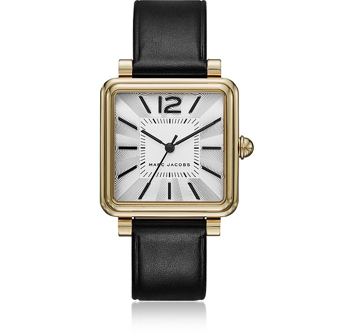 Vic Silver Tone and Leather Women's Watch - Marc Jacobs