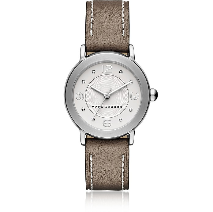 Riley Silver Tone and Brown Leather Bracelet Women's Watch - Marc Jacobs