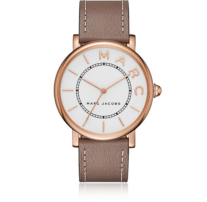 Roxy Rose Gold Tone and Brown Leather Women's Watch - Marc Jacobs
