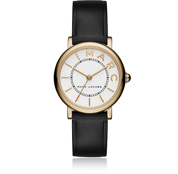 Roxy Gold Tone and White Dial Women's Watch - Marc Jacobs