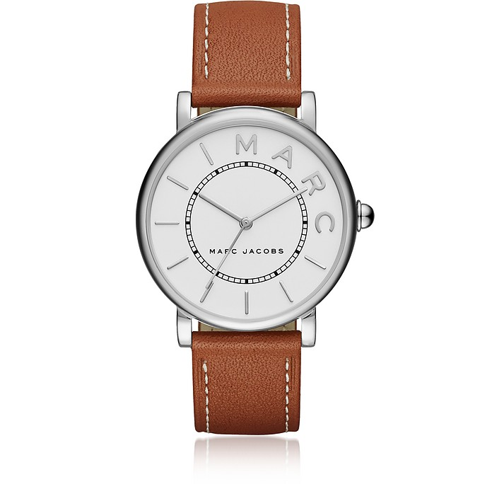 Roxy Silver Tone and Brown Leather Women's Watch - Marc Jacobs