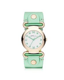 Molly 30MM Women's Watch w/Mint Leather Strap