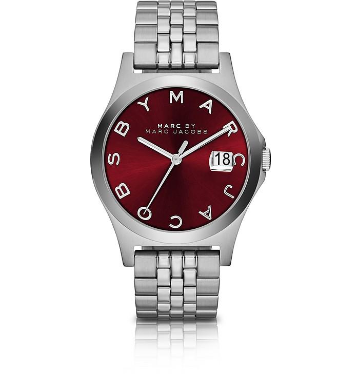 The Slim 30MM Bracelet Women's Watch w/Burgundy Dial - Marc by Marc Jacobs