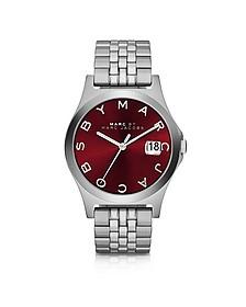 The Slim 30MM Bracelet Women's Watch w/Burgundy Dial