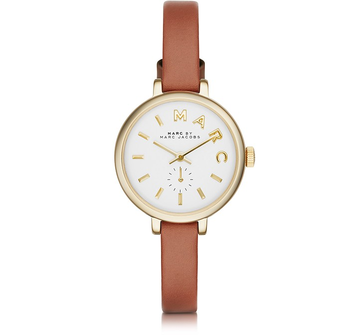 Sally 28 MM Stainless Steel and Leather Strap Women's Watch  - Marc by Marc Jacobs / マーク バイ マークジョイコブス