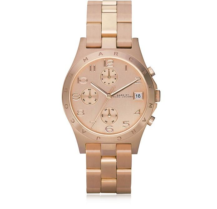 Henry Chrono 36.5 MM Rose Gold Tone Stainless Steel Women's Watch - Marc by Marc Jacobs / マーク バイ マークジョイコブス