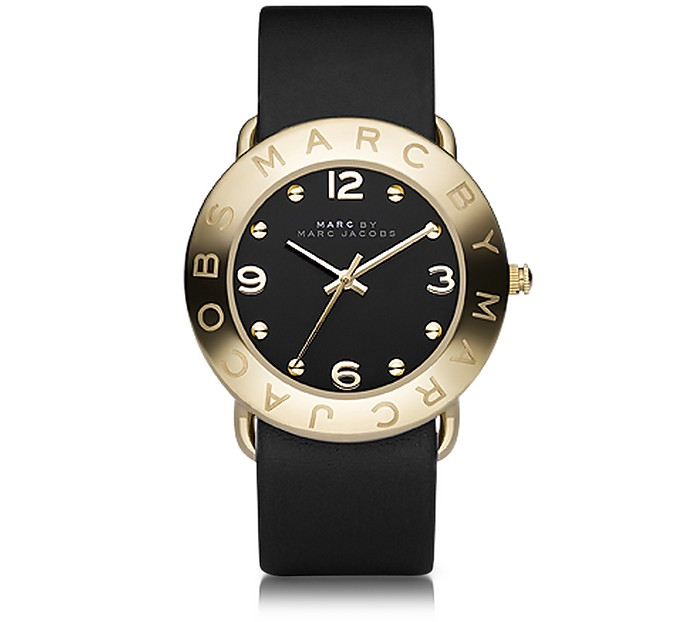 Amy 36mm Black Leather Strap Watch - Marc by Marc Jacobs
