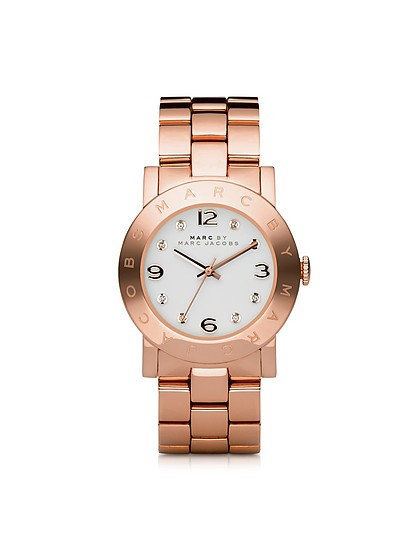 Amy 36.5mm Rose Stainless Steel Bracelet Watch - Marc by Marc Jacobs
