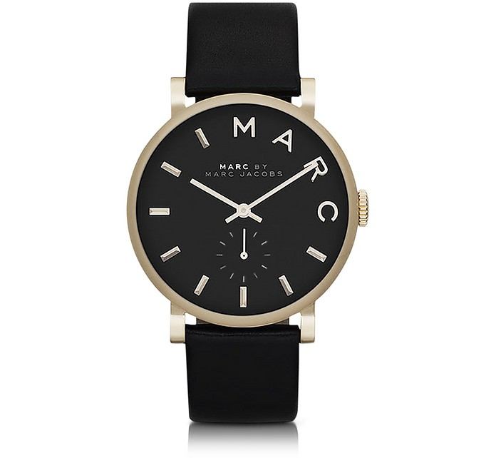 Black Baker 36.5MM Round Women's Watch - Marc by Marc Jacobs / マーク バイ マークジョイコブス