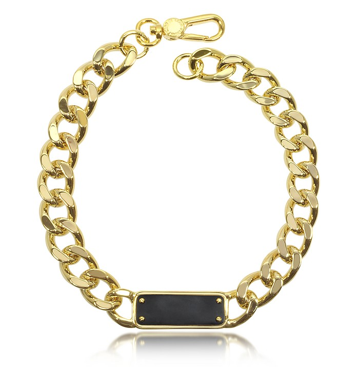 Link To Katie ID Plaque Statement Necklace - Marc by Marc Jacobs