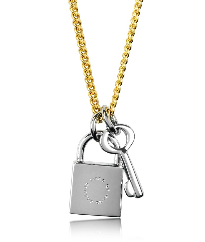 Loced In Orbit Lock & Key Pendant Necklace - Marc by Marc Jacobs