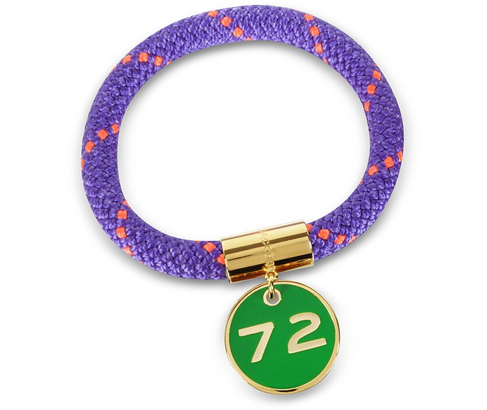Purple Nylon and Golden Brass 72 Location Bangle - Marc by Marc Jacobs