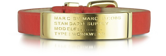 Standard Supply ID Brass and Leather Bracelet - Marc by Marc Jacobs