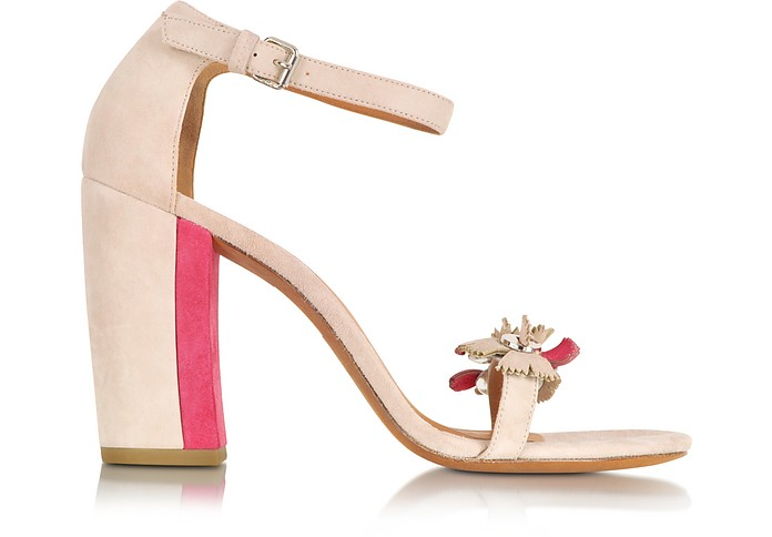 Pink and Raspberry Suede Sandal - Marc by Marc Jacobs