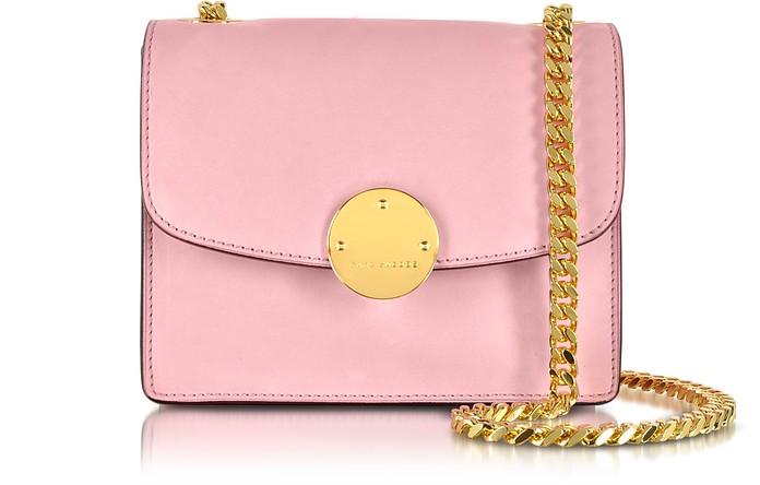 Mini Trouble Baby Pink Suede Shoulder Bag - Marc Jacobs