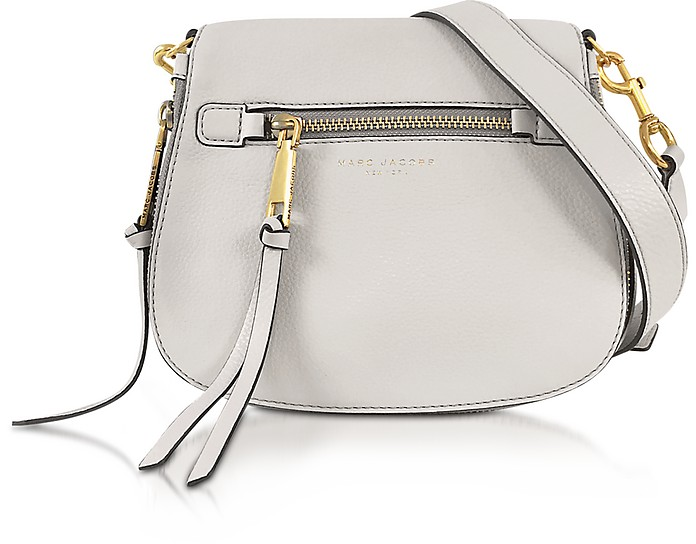 6f8206d24c Marc Jacobs Recruit Dove Leather Small Saddle Bag at FORZIERI