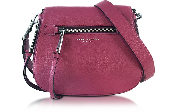 Marc Jacobs Recruit Wild Berry Leather Small Saddle Bag at FORZIERI UK 8f002c1b9f8e1