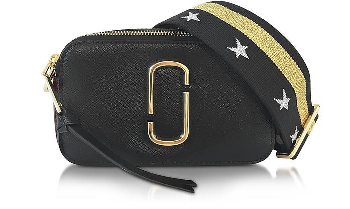 0541e4c316b4 Marc Jacobs Snapshot Black Leather Camera Bag w Shoulder Strap at ...