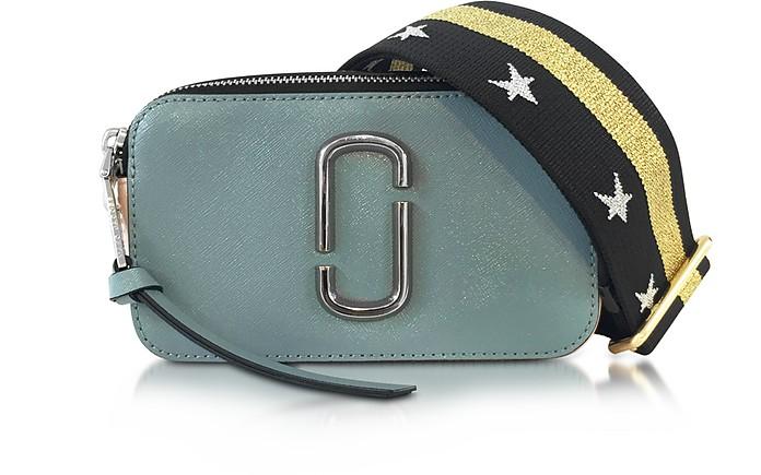 Snapshot Dolphin Blue Leather Camera Bag w/Shoulder Strap - Marc Jacobs