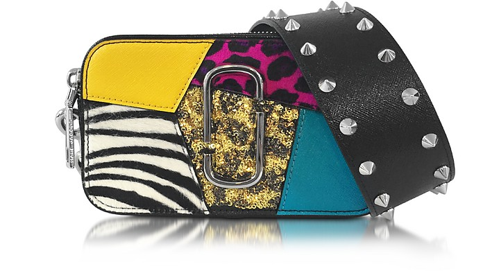 Snapshot Punk Patchwork Leather Camera Bag w/Shoulder Strap - Marc Jacobs