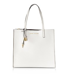 White Glow Leather The Grind Tote Bag - Marc Jacobs